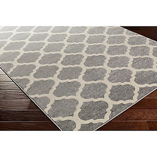 "Home Accents Horizon 2' 7"" x 7' 3"" Runner, Gray, large"