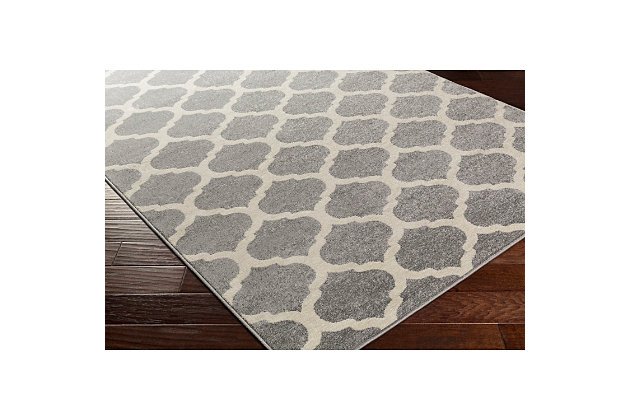 "Home Accents Horizon 6' 7"" x 9' 6"" Area Rug, Gray, large"