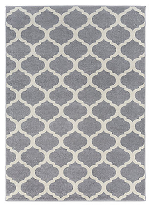 "Home Accents Horizon 5' 3"" x 7' 3"" Area Rug, Gray, large"