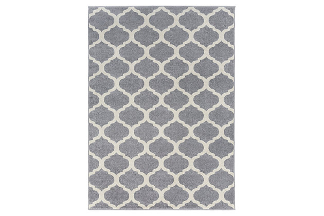 "Home Accents Horizon 3' 3"" x 5' Area Rug, Gray, large"