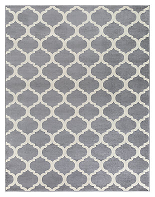 "Home Accents Horizon 7' 10"" x 10' 3"" Area Rug, Gray, large"