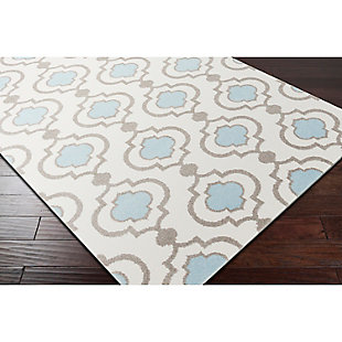 "Home Accents Horizon 6' 7"" x 9' 6"" Area Rug, Blue, rollover"