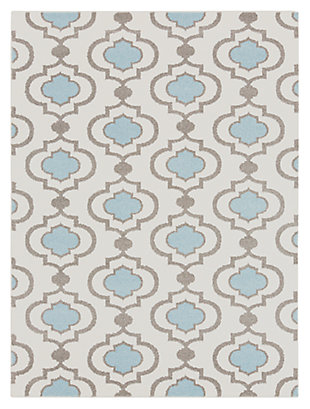 "Home Accents Horizon 6' 7"" x 9' 6"" Area Rug, Blue, large"