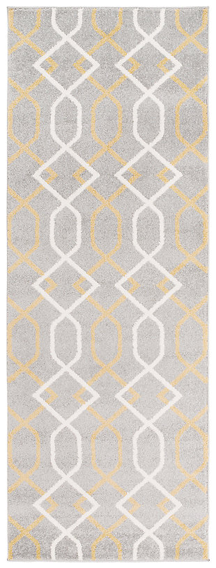 "Home Accents Horizon 2' 7"" x 7' 3"" Runner, Beige, large"