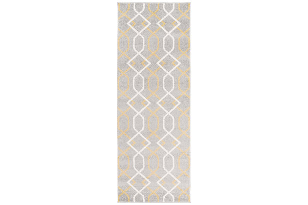 """Home Accents Horizon 2' 7"""" x 7' 3"""" Runner, Beige, large"""