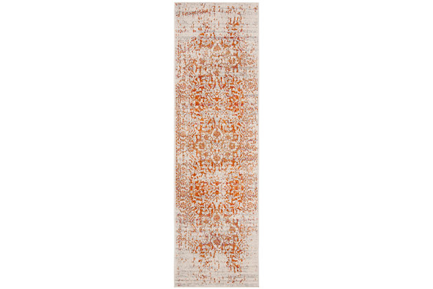 Safavieh Madison 2'-3 x 8' Runner, Orange, large