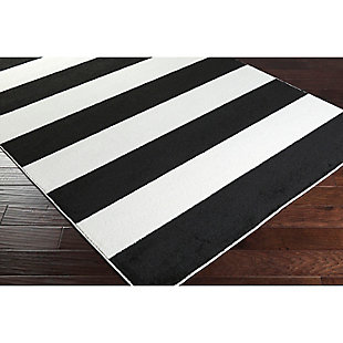 "Home Accents Horizon 6' 7"" x 9' 6"" Area Rug, Black/White, rollover"