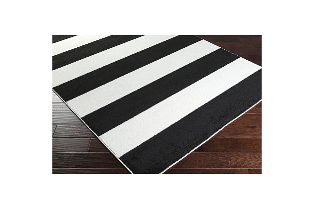 "Home Accents Horizon 3' 3"" x 5' Area Rug, Black/White, large"