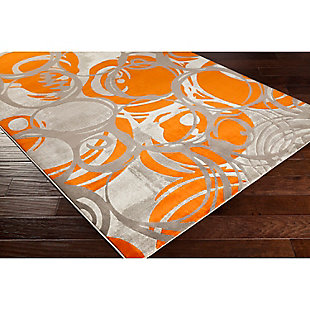 "Home Accents Jax 5' 2"" x 7' 6"" Area Rug, Orange, rollover"