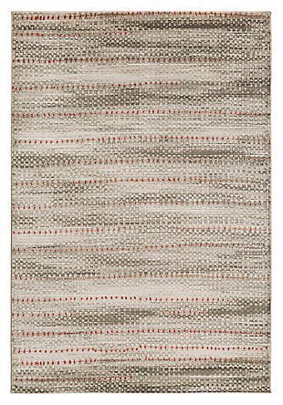 "Home Accents Jax 5' 2"" x 7' 6"" Area Rug, Gray, large"