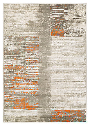 "Home Accents Jax 2' 2"" x 3' Area Rug, Orange, large"