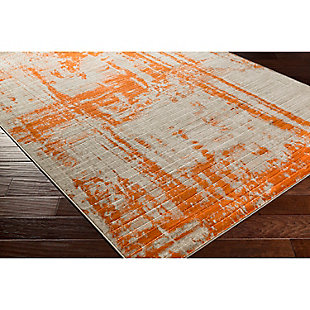 "Home Accents Jax 7' 6"" x 10' 6"" Area Rug, Orange, rollover"