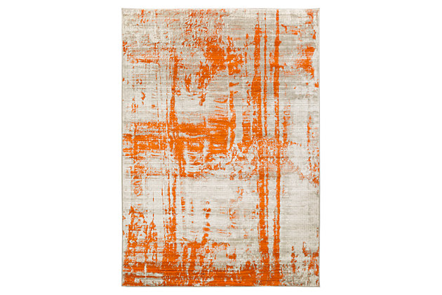 "Home Accents Jax 5' 2"" x 7' 6"" Area Rug, Orange, large"