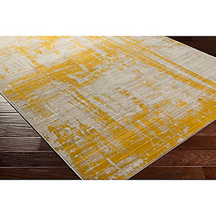 "Home Accents Jax 2' 2"" x 3' Area Rug, Yellow, rollover"
