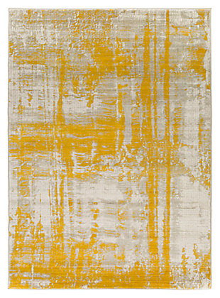 "Home Accents Jax 2' 2"" x 3' Area Rug, Yellow, large"