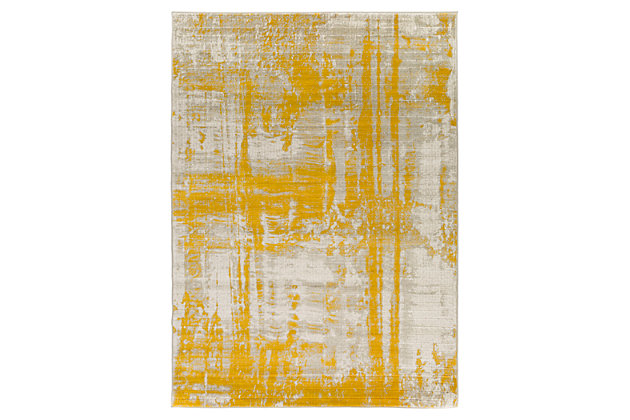 "Home Accents Jax 7' 6"" x 10' 6"" Area Rug, Yellow, large"