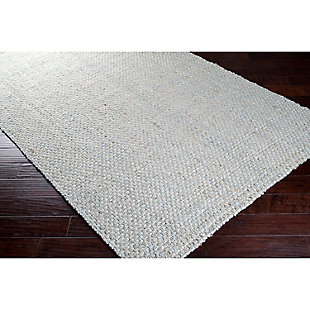 Home Accents Jute Woven 5' x 8' Area Rug, Gray, rollover