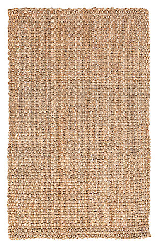 "Home Accents Jute Woven 2' 6"" x 4' Area Rug, Wheat, large"