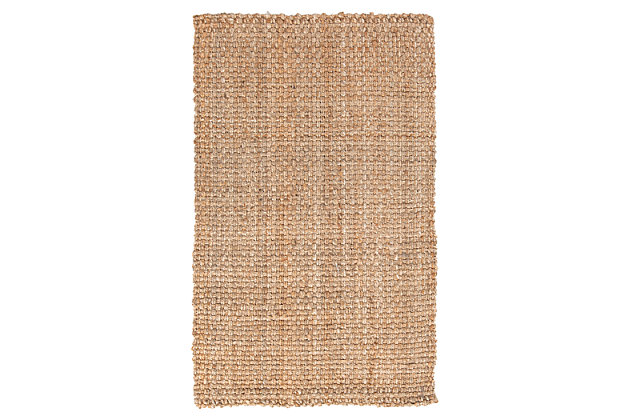 Home Accents Jute Woven 2' x 3' Area Rug, Wheat, large