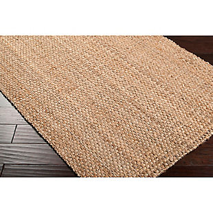 Home Accents Jute Woven 5' x 8' Area Rug, Wheat, rollover