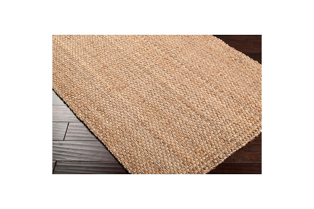 "Home Accents Jute Woven 3' 6"" x 5' 6"" Area Rug, Wheat, large"