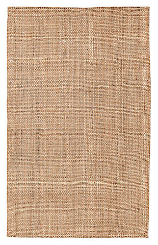 Home Accents Jute Woven 5' x 8' Area Rug, Wheat, large