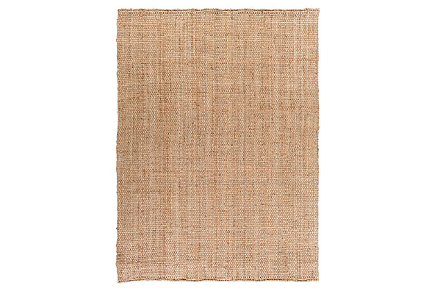 """Home Accents Jute Woven 8' x 10' 6"""" Area Rug, Wheat, large"""