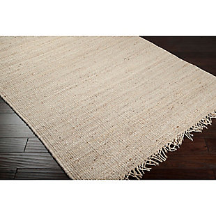 Home Accents Jute Bleached 4' x 6' Area Rug, Cream, rollover
