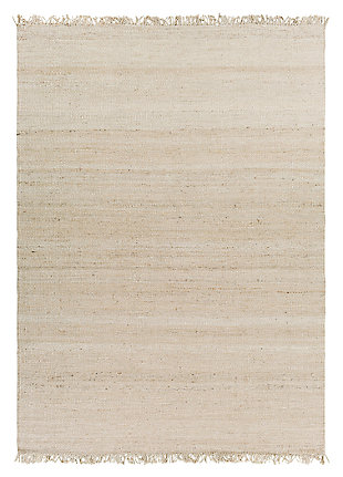 "Home Accents Jute Bleached 8' x 10' 6"" Area Rug, Cream, large"