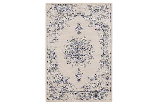 "Home Accents Kaitlyn 5' 3"" x 7' 6"" Area Rug, Gray, large"