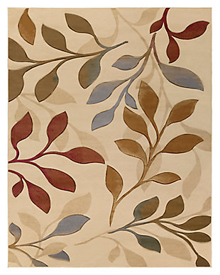 "Home Accents Majestic 7' 10"" x 10' 3"" Area Rug, Beige, large"