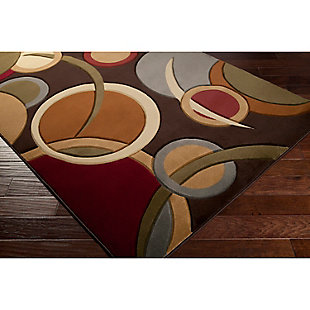 "Home Accents Majestic 5' 3"" x 7' 3"" Area Rug, Brown, rollover"