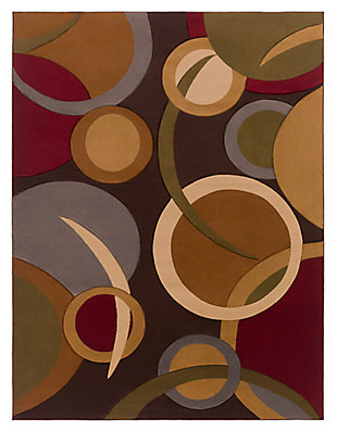 "Home Accents Majestic 7'10"" x 10'3"" Area Rug, Brown, large"