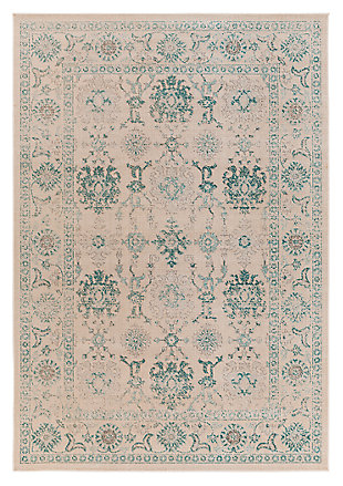 "Home Accents Mavrick 6' 8"" x 9' 8"" Area Rug, Green, large"