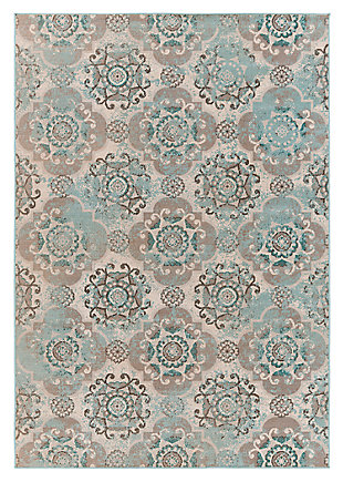 "Home Accents Mavrick 6' 8"" x 9' 8"" Area Rug, Beige, large"