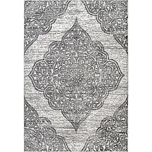 Nuloom Transitional Floral Jeannette 5' x 8' Area Rug, Gray, large