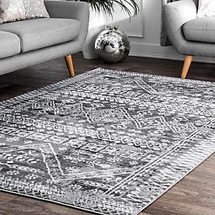 Nuloom Evanescent Moroccan 5' x 8' Area Rug, Gray, rollover