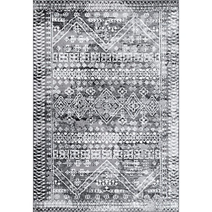 Nuloom Evanescent Moroccan 5' x 8' Area Rug, Gray, large