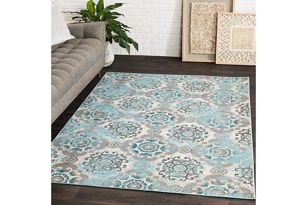 """Home Accents Mavrick 7' 11"""" x 11' Area Rug, Beige, large"""