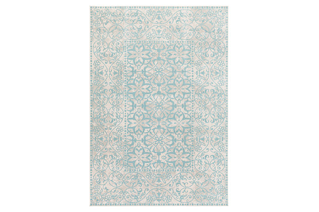 "Home Accents Mavrick 5' 4"" x 7' 8"" Area Rug, Green, large"