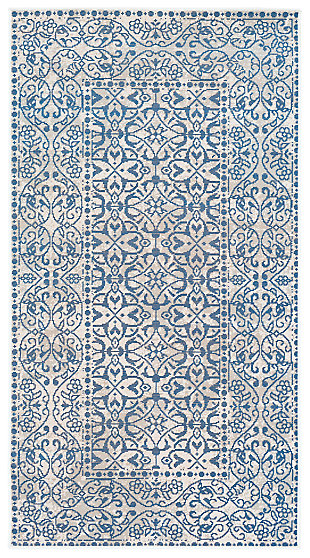 "Home Accents Mavrick 2' 8"" x 5' Area Rug, Blue, large"