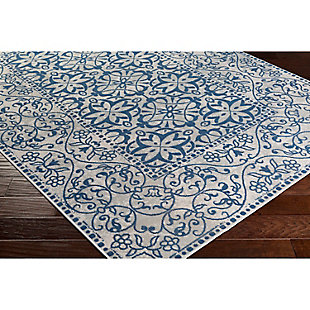 "Home Accents Mavrick 6' 8"" x 9' 8"" Area Rug, Blue, rollover"