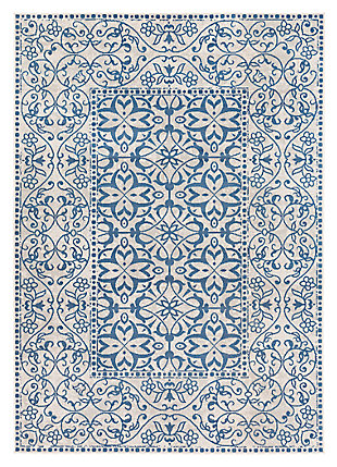 "Home Accents Mavrick 6' 8"" x 9' 8"" Area Rug, Blue, large"