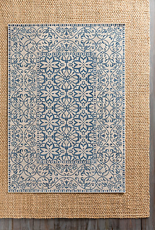 "Home Accents Mavrick 5' 4"" x 7' 8"" Area Rug, Blue, large"