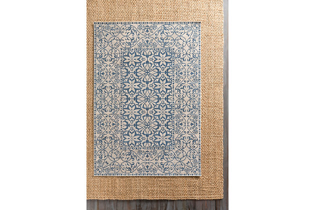 "Home Accents Mavrick 2' 2"" x 4' Area Rug, Blue, large"