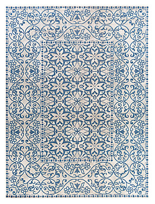 "Home Accents Mavrick 7' 11"" x 11' Area Rug, Blue, large"