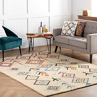 Nuloom Hand Tufted Belini 3' x 5' Area Rug, Ivory, rollover