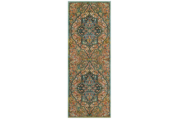 "Home Accents Masala Market 2' 7"" x 7' 3"" Runner, , large"