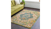 """Home Accents Masala Market 3' 11"""" x 5' 7"""" Area Rug, Green, large"""