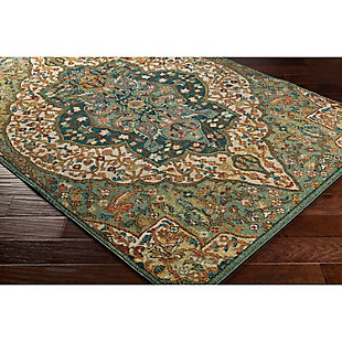 "Home Accents Masala Market 2' 7"" x 7' 3"" Runner, Green, rollover"